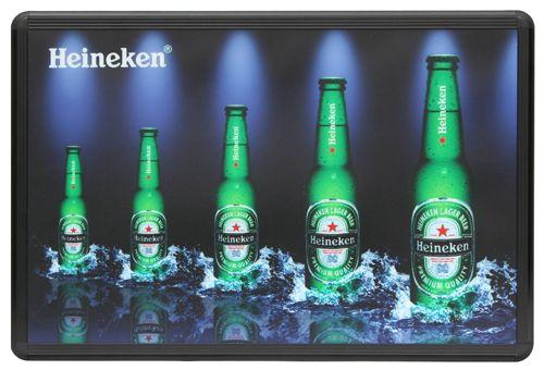 Animated LED Light Box Sign Display for Bar, Beer, Liquor   Heineken