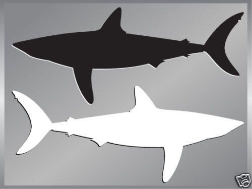 MAKO SHARK silhouette fishing cut vinyl decal up to 8