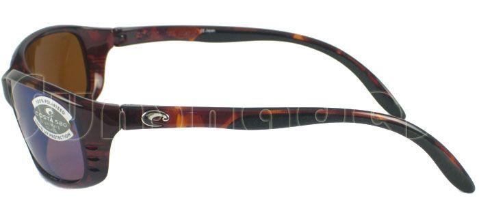 129746b6a1bb0 New Costa del Mar Brine Tortoise Green Polarized 580 Glass Lens