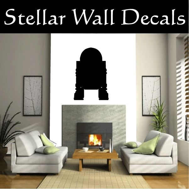 r2d2 front 2 Star Wars Wall Car Vinyl Decal Sticker