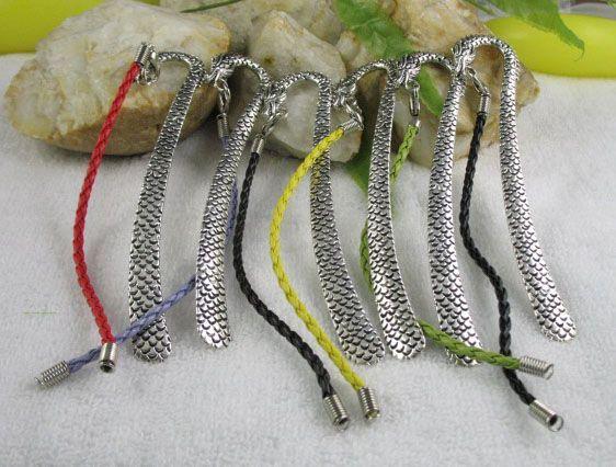 Tibetan Silver Dragon Bookmark Fit charm bracelet