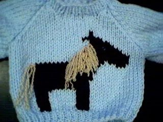 Horse Sweater Handmade for American Girl Doll