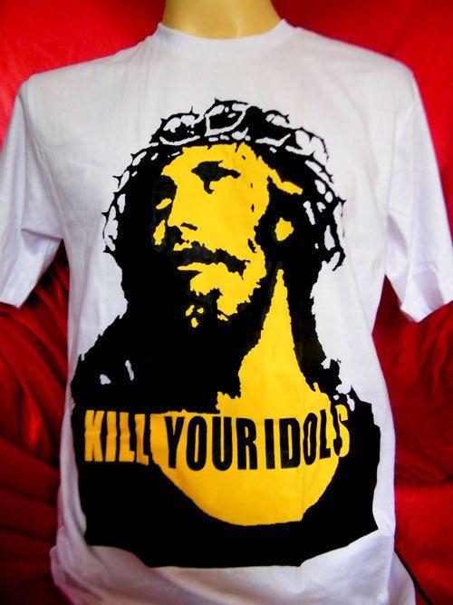 Kill Your Idols Rock Axl Rose Guns N Roses mens,womens white t shirt