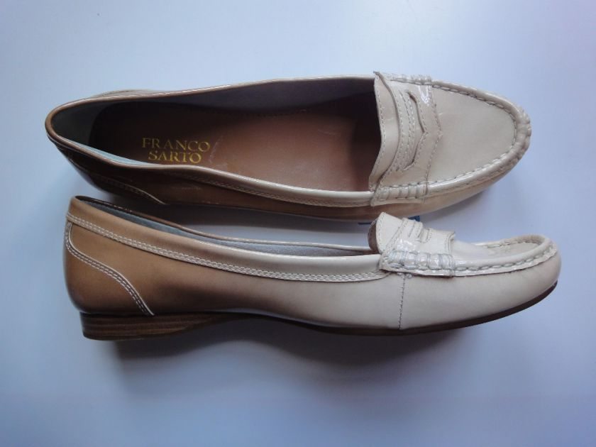 FRANCO SARTO KEEN LOAFERE PATENT US 9M