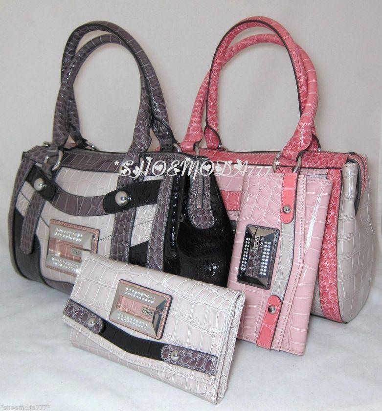 Rhinestones Logo Bag Purse Handbag Satchel Sac Wallet New Beige Pink