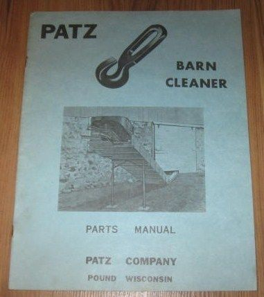 Patz Barn Cleaner Parts Manual