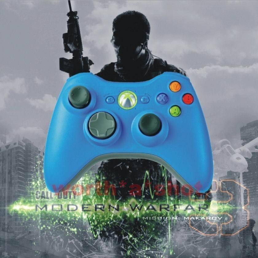 Xbox 360 Rapid Fire Modded Blue Controller 12 Mode Drop Shot New