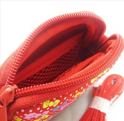 Red Hello Kitty Digital Camera Bag Pouch Case & Strap