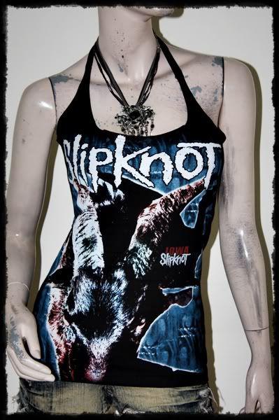 Slipknot Metal Rock DIY Sexy Halter Top Shirt
