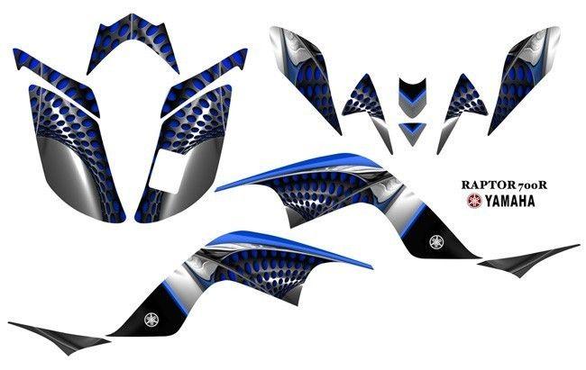 Yamaha Raptor 700 ATV Quad Graphics Decal kit 7777Blue